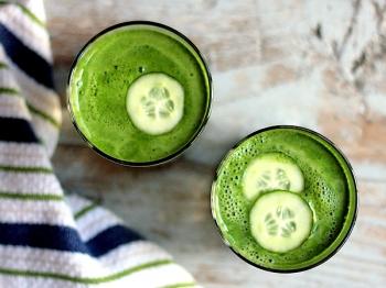 Πράσινος χυμός για διατροφή